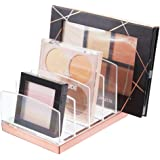 mDesign Porta trucchi in plastica – Organizer per cosmetici con 5 scomparti – Contenitore per make-up per bagno, tavolo da tr