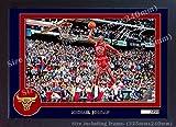 S&E DESING Michael Jordan NBA SIGNED Autograph Foto Poster Print Chicago Bulls gerahmt 0013
