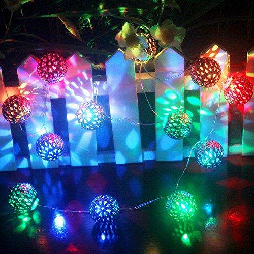 Halloween Lichterkette Batterie Aussen Draußen LED,Ryham 1.5M 4.9ft 3V 12LED deko glühbirne led lichterkette,bunt