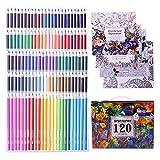 120 lápices de colores únicos para colorear dibujo de anime y manga con 4 libros para colorear para adultos