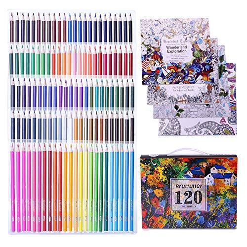 Laconile 160 Ölfarbstifte in lebendigen Farben, vorgeschärft, für Erwachsene, Malbücher, Künstler, Zeichnen, Skizzieren, Handwerk 120 colours