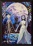 uhomate Corpse Bride Victor und Emily Wand Decor Vincent van Gogh Starry Night Poster Leinwandbild Home Kunstdruck Jahrestag Geschenke Baby Kinderzimmer Decor Wohnzimmer Wall Decor A087, 8x10 inch