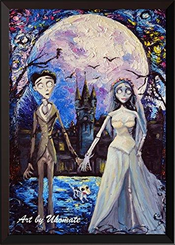 Uhomate Corpse Bride Victor und Emily Wand Decor Vincent Van Gogh Starry Night Poster Leinwandbild Home Kunstdruck Jahrestag Geschenke Baby Kinderzimmer Decor Wohnzimmer Wall Decor A087, 8x10 inch (Corpse Bride, Victor)