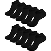 Benirap Ankle Socks, 10 Pairs Breathable Running Socks for Men and Women, Soft Thin Trainer Socks with Right Thickness…