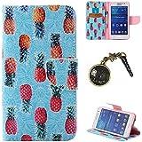 PU Cuir Coque Strass Case Etui Coque étui de portefeuille protection Coque Case Cas Cuir Swag Pour( Samsung Galaxy Core Prime G530, G530H G530FZ G531F +Bouchons de poussière (11LO)