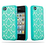 Cadorabo Apple iPhone 4 / iPhone 4S Coque Plastique Dur Mandala en Vert Transparent...