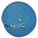 EDUPLAY 800429 Schwungseil Springseil, mit Federhaken & Drehwirbel, blau (5 m)