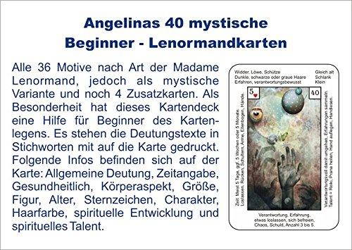 Angelinas 40 mystische Beginner - Lenormandkarten: incl. Deutungstexten auf den ()