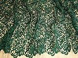 Zierrand Couture Brautschmuck schwere Guipure-Spitze Stoff Flasche Grün–Meterware