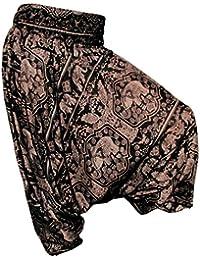 NEU Panasiam Aladin Pants, 'Elefant' (kleine Auflagen) Naturstoff!! Das Original, Qualitätshose, Jumpsuit, hier zum Aktionspreis..
