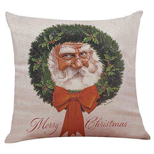 Weihnachten Weihnachtsmann Kissenbezug Sofa Home Decor KissenhüLle Dekorative Dekokissen Lendenkissen Wurfkissenbezug Packungen Kissen KissenbezüGe Quadrat Sofakissen(G)