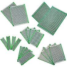 IZOKEE 20Stücke 5x7 4x6 3x7 2x8 7x9 9x15CM Double Side Doppelseitig Prototype Lochrasterplatte Lochrasterplatine Leiterplatte Platine PCB Universal Board für DIY