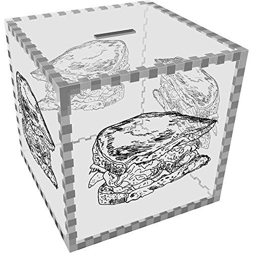 Azeeda Grande 'Sandwich de jamón' Caja de Dinero / Hucha (MB00029800)