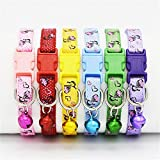Pets Empire Pet Cat Collar Breakaway Safety Kitty Dog Collar Bell Wholesale ( Pattern May Vary)-1 Piece Color May Vary