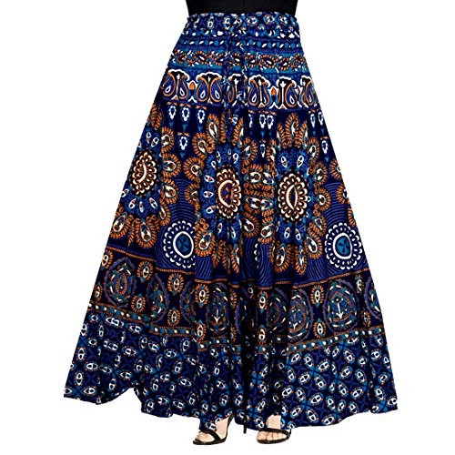 JWF WOMENS COTTON WRAP AROUND WESTERN WEAR SKIRTS