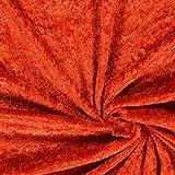Fabulous Fabrics Pannesamt Terracotta – Weicher SAMT Stoff zum Nähen von Kleider, Oberteile, Tücher und Tischdecke - Pannesamt Dekostoff & Bekleidungsstof- Meterware ab 0,5m