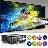 WIKISH WiFi Bluetooth Proyector HD 4200 Lumen LCD Proyector de cine en casa inalámbrico Multimedia USB HDMI Ypbpr RCA Audio VGA 1080P Proyectores de video para PC portátil Juegos de video Playstation