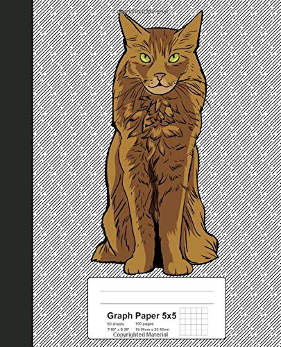 Graph Paper 5x5: Book Somali Cat (Weezag Graph Paper 5x5 Notebook, Band 269)