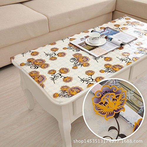 MH-RITA die Frosted Crystal Board Floppy Couchtisch aus Glas Halterungen Kunststoff Tischdecke E 90 * 160 cm (Klar Tischdecke Kunststoff Schneeflocke)