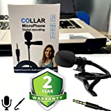 Cospex Recording Lapel Metal Clip-on Omnidirectional Capacitor Mini Microphone for Bloggers