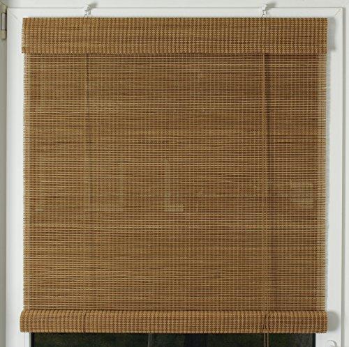 EFIXS Premium Bambusrollo / Rollup aus Rundstäbchen - 200 x 160 cm (Breite x Höhe) – Farbe: braun und natur – weitere Größen im Angebot wählbar