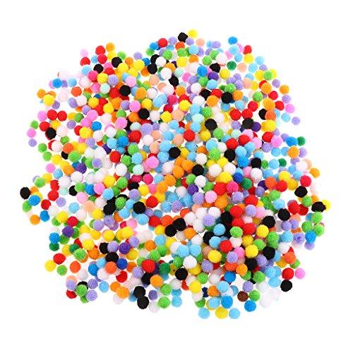 MagiDeal 100/500/1000 Stück Sortierte Farbe Filz Bälle Pompom Kugeln Für Diy Handwerk - Mehrfarbig, 10mm 1000pcs -