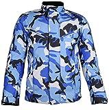 MDM Motorradjacke für Herren in schönen Camouflage Farben (XL, Camo Blau)