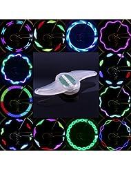 Éclairage LED de rayon de vélo septuple Multicolore Avec 30différents dessins et motifs