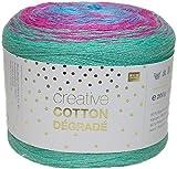 Rico Creative Cotton Degrade 200 g Bobbel = 800 m Farbverlaufsgarn zum Häkeln und Stricken 010 multicolor