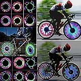 Kompassswc Fahrrad Wasserdicht 32-LEDs Speichenlicht 32 Mustern MTB Radfahren Felge Lichter Fahrradlichter Reifen Beleuchtung Lampe