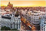 Póster de vista panorámica de gran Via, Madrid, España by Kasto (13x 19)