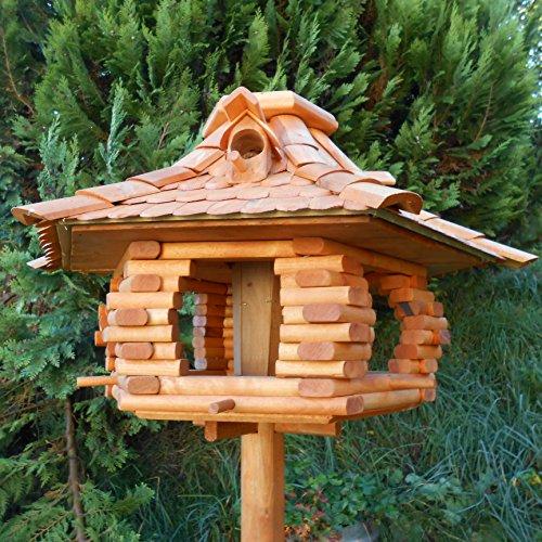 Großes Vogelhaus Futterhaus Vogelhäuschen –Wetterschutz– K22 B - 2