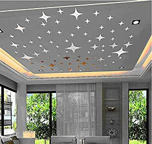 Multi pcs Modern shinny light gold stars wall art decoration mirror like for baby gift nursery decals kids room girl boy party