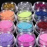 EMOTREE 45 Dosen Glitzer Set Nagel Design Puder Glitter Pulver Profi Studio Nailart Dekoration