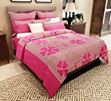 Home Candy 144 TC 100% Cotton Fuschia Fl...
