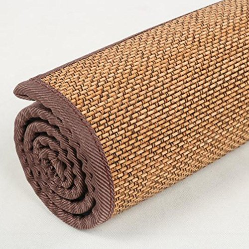 KAHDGYADQF Bambusmatte/Wohnzimmer Schlafzimmer Bambus Teppich Custom Tatami Float Fenster Bambus Matte Yoga Non-Slip Matte-taobao-B 130x240cm(51x94inch)