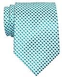 Retreez Herren Gewebte Krawatte Wellig Zick-Zack Gestreifte 8 cm - türkis