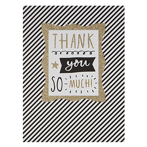 Hallmark - Tarjeta de agradecimiento (tamaño grande), diseño de brillantes