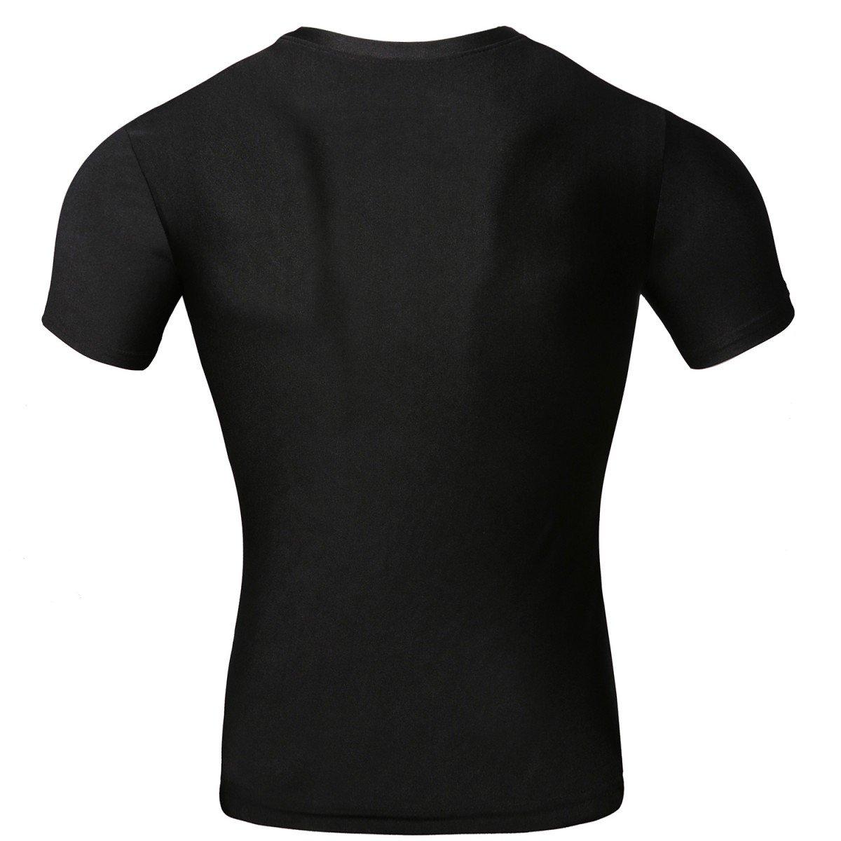 Cody Lundin Maschile Compressione di Super Eroe Fitness t-Shirt Uomo Jogging Movimento gestito Manica Corta