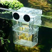 SENZEAL Kunststoff Fisch Isolation Box multifunktionale Zucht Brutkasten Inkubator Box mit 3 stücke Pasteur Pipette Groß