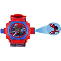 Fitro Digital 24 Images Spiderman Projector Watch for Kids Boys & Girls, Diwali Gift, Birthday Return Gift (Color May Vary)