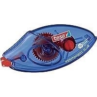 Tesa Roller Colle Permanente EcoLogo Jetable - Ruban Adhésif Double Face (PET) Résistant à la Déchirure - 8,5 m x 8,4 mm