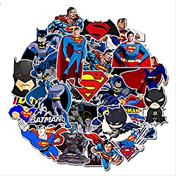 WH MaiYY 45 Bande Dessinée Superman Batman Notebook Planche À Roulettes Autocollant Valise Autocollant L'Europe Et L'Amérique Anime Graffiti Autocollant