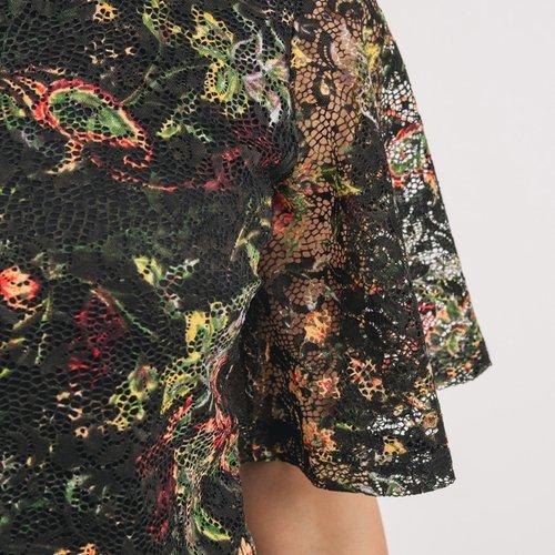 Promod Robe en dentelle Femme Imprimé multicolore