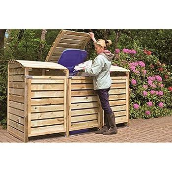 Bekannt Mülltonnenbox für 3 Mülltonnen aus Nadelholz: Amazon.de: Garten DE98