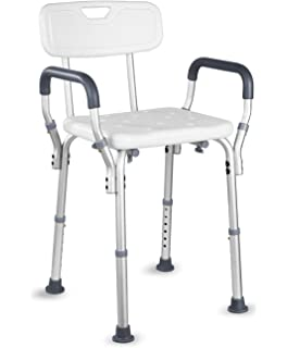 Medokare Shower Chair with Back Padded Shower Seat for
