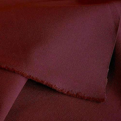 Qualität Baumwolle Stoff (TOLKO Baumwollstoff - Schwerer Canvas Polsterstoff Meterware - Stabil, Abriebfeste Baumwoll-Qualität zum Nähen, für Stühle/Möbel (Bordeaux))
