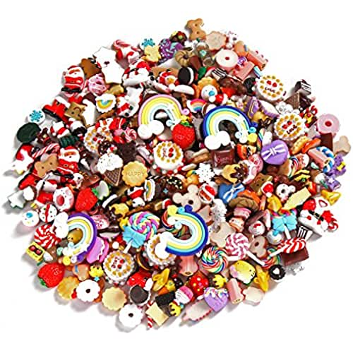 mini kawaii miniaturas kawaii Sea Team Mixed Lote Food Resin Flatback Mini Kawaii Cabochons