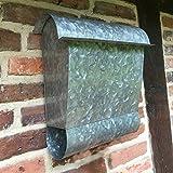 Antikas - Briefkasten mit Zeitungsfach, Postkasten mit Zeitungsrolle Wandbriefkasten Zink