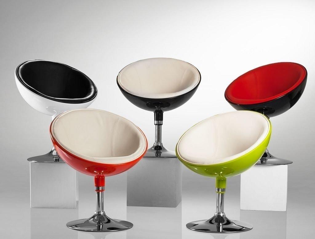 Lounge Sessel in Weiss Clubsessel Kunststoff Kunstleder Cocktailsessel Retro Design Sessel Duhome 0611